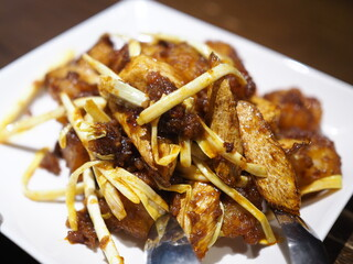 豊栄 - エビとマコモ茸の豊栄醬炒め