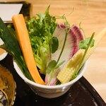 北新地 天婦羅 ぼん次 - 先付:野菜スティック