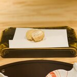 北新地 天婦羅 ぼん次 - 帆立の生ハム+クリームチーズ挟み