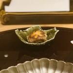 北新地 天婦羅 ぼん次 - 椎茸鶏ミンチ詰め