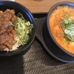 カルビ丼とスン豆腐専門店 韓丼  - セット