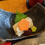 日本橋 伊勢定 - [料理] 湯葉刺し プレート 全景♪W