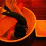 ウエダ - 野菜がめっちゃしゃきしゃきしてて瑞々しいです。 明太子マヨネーズも美味しい(*^_^*)