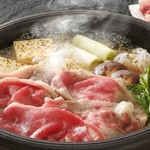 旬菜旬魚 きくの - 料理写真:黒毛和牛リブロースをすき焼きで!