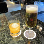 121050544 - あらごし梅酒ロック 700円+Tax & 生ビール 780円+Tax
