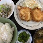 食いものや - 料理写真:生卵フライ定食 650円
