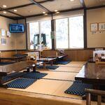 レストラン 農香庵 - 店内の座敷席
