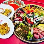 レストラン アオヤマ - クリスマスオードブルセットとクリスマスチキン