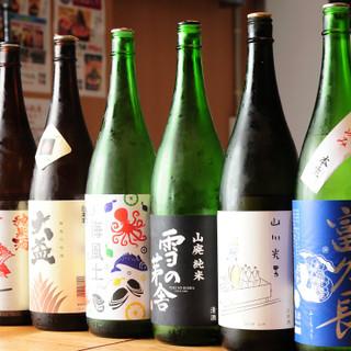 日本酒や焼酎など、新鮮な魚料理と好相性なドリンクが多数☆