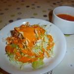 12107692 - ランチサラダとスープ