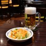 ナマステ - 【ディナーセットB@1,410円】ミニサラダ&生ビール