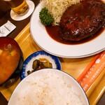 三福亭 - ハンバーグ定食