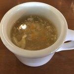和伊わい亭 - ランチのセットのスープ