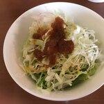 和伊わい亭 - ランチのセットのサラダ