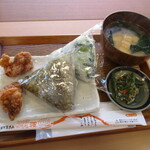 釜炊きおにぎり 筑波山 縁むすび - 常陸小田米セット(わさび菜&とろろ昆布)!