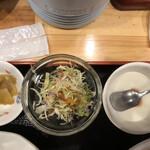 121081081 - 搾菜・サラダ・杏仁豆腐