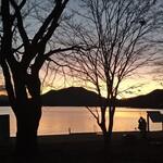 121086150 - 夕暮れの山中湖