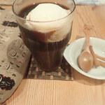 路地カフェ - コーヒーフロート きなこねじりつき