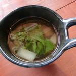 カナンスローファーム カフェ&エコステイ - ランチのスープ