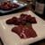 炭火焼肉 久 - 料理写真:仙台牛のレバーと豚のレバー