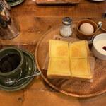 グッドネイバーズコーヒー リラクシング - 厚切りバタートースト Aセット (ホットコーヒー)
