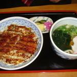 12110112 - ソースカツ丼セット