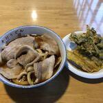 121101653 - 肉南蛮うどんと春菊とゴボーの天ぷら