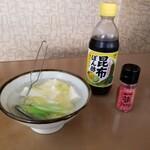 宝来 - サービスの湯豆腐