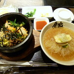 121108560 - 手打ち冷麺+石焼ビビンパ(小)