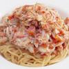 アルバロンガ - 料理写真:紅ズワイガニとフルーツトマトの冷製カペリーニ