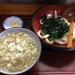 あそび - 濃厚背脂燕三条系肉うどん(950円)