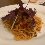 オステリア ジャップス - イカミンチのトマトパスタ