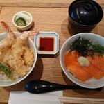 京ぜん - ハーフ&ハーフ丼