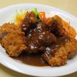 三笠 - チキンカツ定食 \800