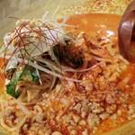 担担 - 坦坦海老からセット:赤唐坦坦麺