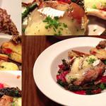 キュイ ラルドワーズ - 茶美豚もも肉とブリード・モーのオーブン焼き。添えられた粒マスタードはダテではありませんでした。
