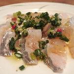12112801 - 長崎産太刀魚のカルパッチョハーフ