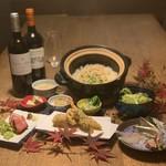 創作天ぷらと炭焼きワイン はかたあゆむ - 2020年新年会コース