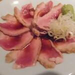 蕎麦・酒・小料理 壱 - 鴨のたたき蕎麦つゆ浸し