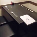 蕎麦・酒・小料理 壱 - 内観写真:奥の4人席