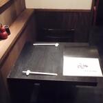 蕎麦・酒・小料理 壱 - 内観写真:お燗場前の二人席