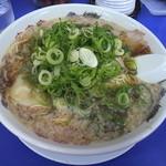 来来亭 - ワンタン(麺大盛り)葱多め