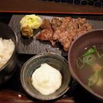 121143649 - 熟成牛たん炭焼定食1300円(税込)