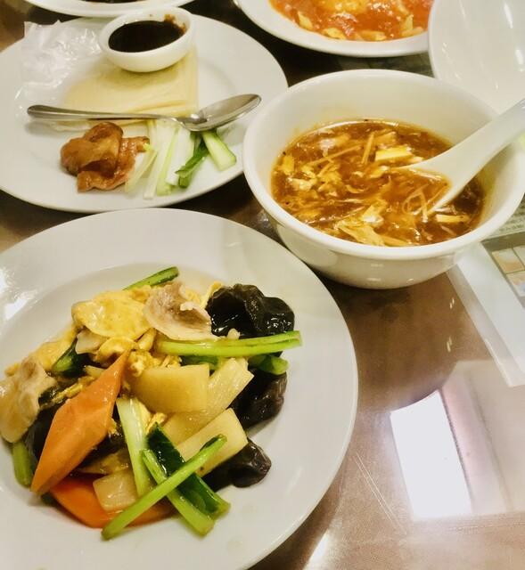 萬金楼 - /北京ダック木耳玉子炒め/酸辣スープ