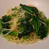 リストランテ ソルジェンテ - 料理写真:ほうれん草のアーリオ・オーリオ スパゲティ(ランチ)