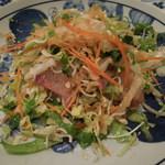 中国料理 敦煌 - 鮮魚のまぜまぜサラダ(混ぜた後)