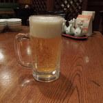 中国料理 敦煌 - 生ビール