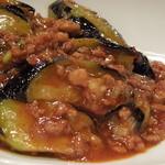 中国料理 敦煌 - 茄子と挽肉の香り辛口炒め