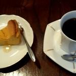 まるや - 料理写真:カボチャのチーズケーキ、マンデリン