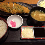 魚盛 - 「鯖カツ御膳」! 鯖フィレのカツ、美味です。 税込900円。